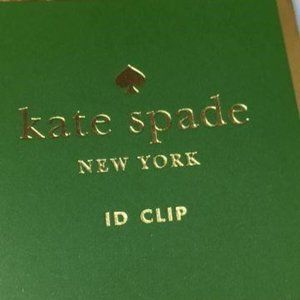 kate spade Accessories - Why Hello There ID Clip Gold Glitter